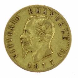 Zlatá mince - 20 Lira 1877