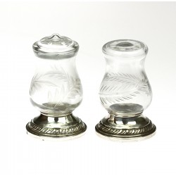 Glass salt shaker with...