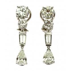 Art-deco diamantové náušnice
