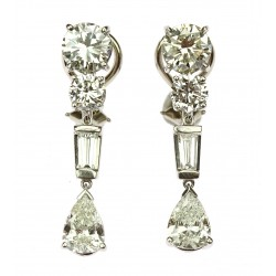 Art-deco diamond earrings