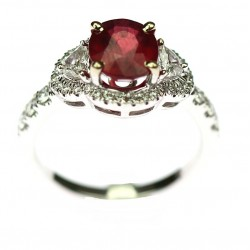 Gold ring with ruby and...