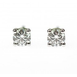 Platinum earrings with...