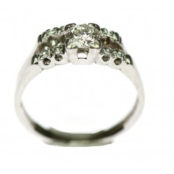 Platinum double ring with...
