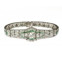 Art-deco náramek s diamanty...