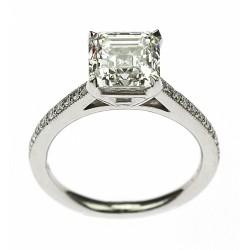 Platinový prsten s diamanty - GIA certifikát