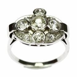 Art-deco prsten s diamanty