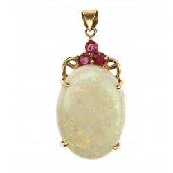 Golden pendant with opal...