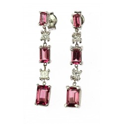 Earrings with tourmalines...
