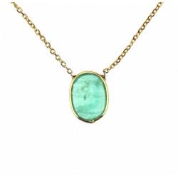 Zlatý náhrdelník se smaragdem