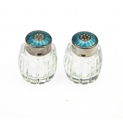 Salt shaker with enamels