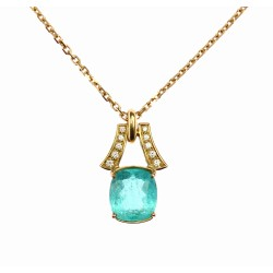 Necklace with paraiba and...