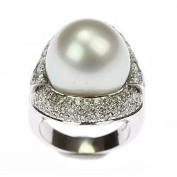Zlatý prsten s perlou a...