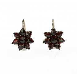 Earrings with Czech garnet