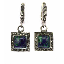 Silver earrings with lapis...