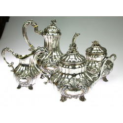 Silver coffee and tea set