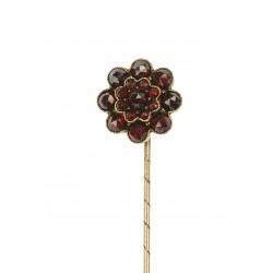 Pin with czech garnet