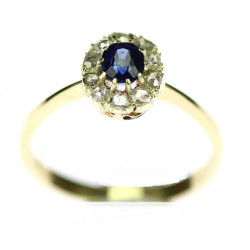 Gold ring with sapphire and...
