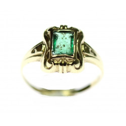 Zlatý prsten se smaragdem
