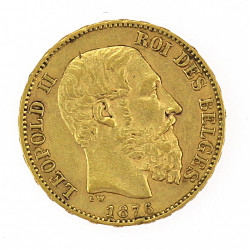 Gold coin - 20 francs, Belgia