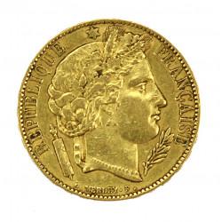 Zlatá mince - 20 frank 1851