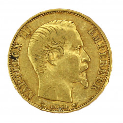 Gold coin - 20 francs 1854