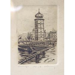 Graphic - Prague Water Tower