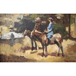 Isaac Israels - Horseback...