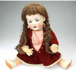 Doll with a porcelain head