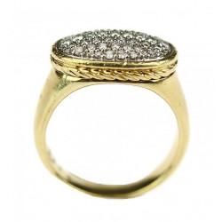 Gold diamond ring - David...