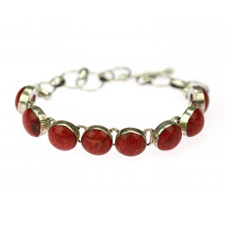 Silver bracelet with sea...