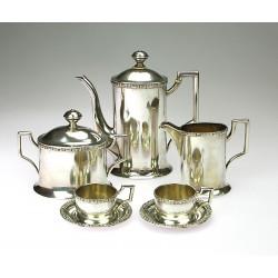 Art deco silver coffee set