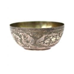 Stříbrná miska s mincí - Írán