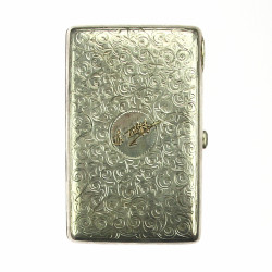 Silver snuff box - Russian...