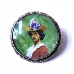 Brož s portrétem dámy