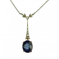 Collar with sapphire and...