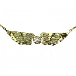 Gold necklace - Angel wings