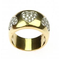 Zlatý prsten s diamanty  -...