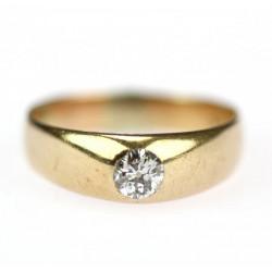 Pánský prsten s briliantem