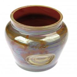 Hyalite glass vase