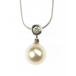 Zlatý přívěsek s perlou a...