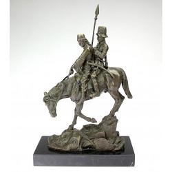 Bronzová socha - Jezdci