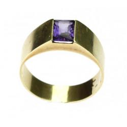 Zlatý prsten se syntetickým...