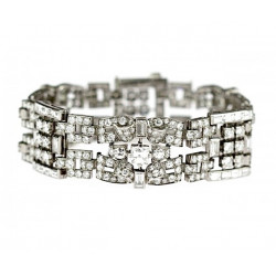 Platinum Art Deco diamond...