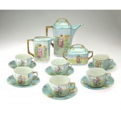 Secesní porcelánový set