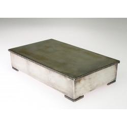 Silver box with dedication by W.A.Bolin