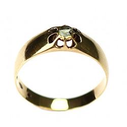 Zlatý prsten s diamantovou...