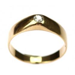 Zlatý prsten s briliantem -...