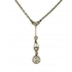 Secesní náhrdelník s diamanty