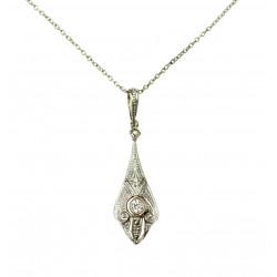Zlatý náhrdelník s diamanty