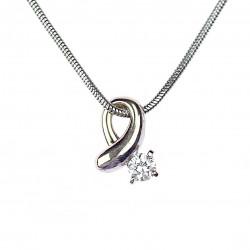 Zlatý řetízek s diamantovým...